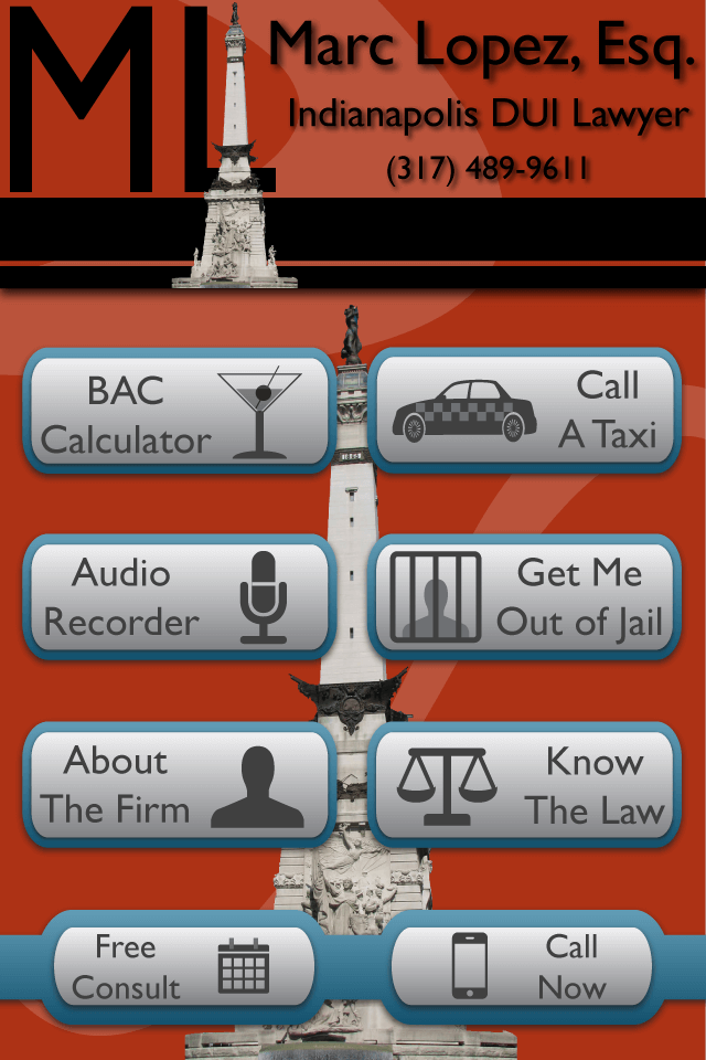 Marc Lopez Law IPhone App