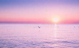 calm peaceful sea at sunrise