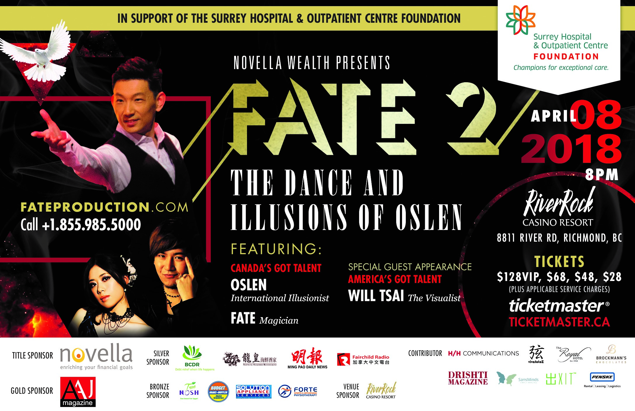 FATE 2: The Dance and Illusions of Oslen – In support of Surrey Hospital and Outpatient Centre Foundation