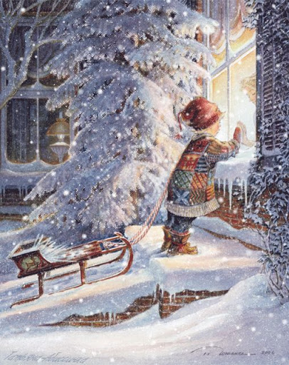 Christmas snowsparkle