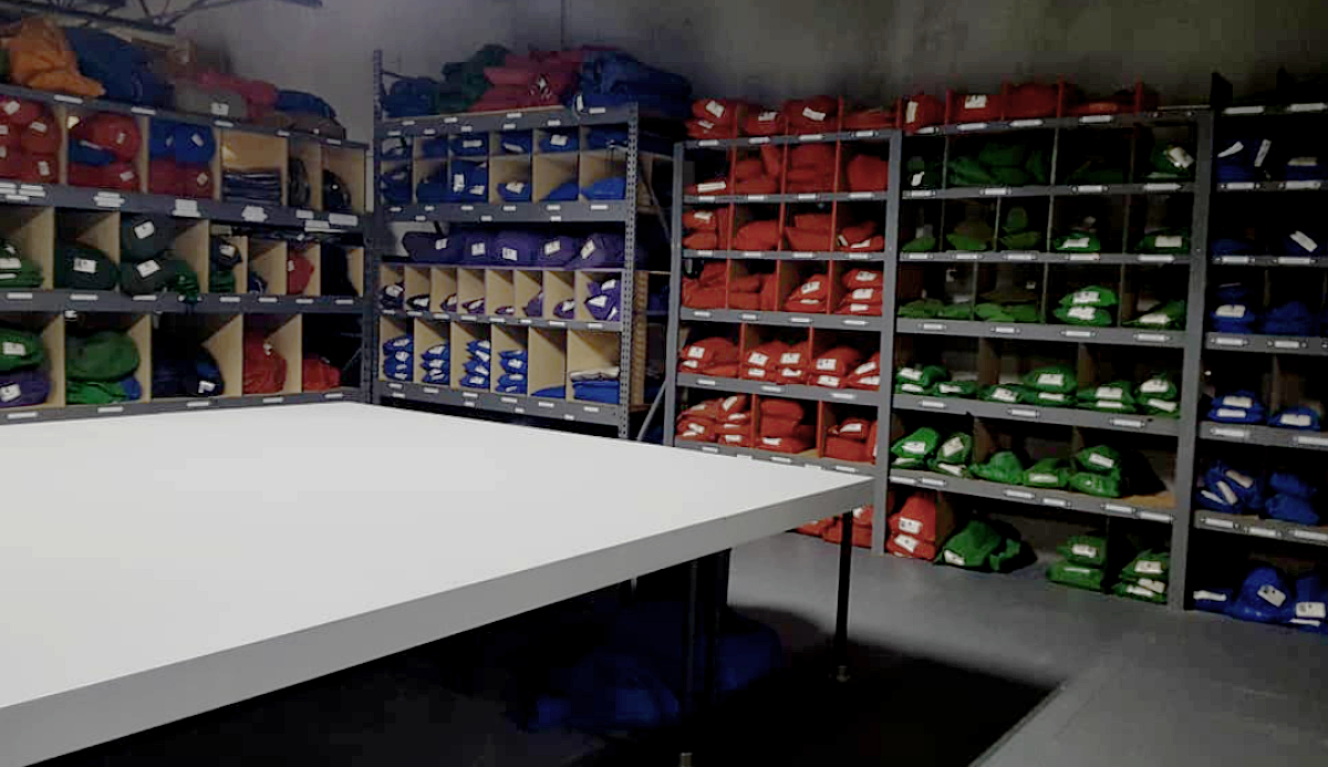 JR Lighting - showing a large variety of rags and backdrops from The Rag Place