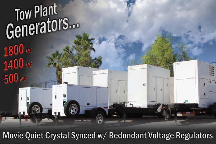 JR Lighting - Tow Plant Generators - Lighting and Grip Truck Packages