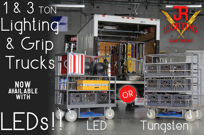 JR Lighting - Lighting and Grip Truck Package now with LED Lighting