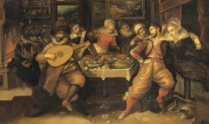Francken, Frans the younger (1581-1642) - Prodigal Son, detail