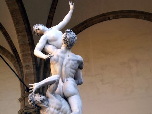 The Rape of the Sabine Women, by Giambologna