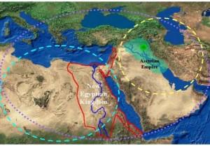 egypt meso map