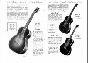 Gibson in catalogue