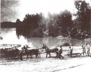 digging lake