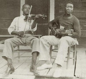 Alan Lomax recorded in Stovall, Mississippi two discs containing Blues and cornfield hollers by the Son Simms Four