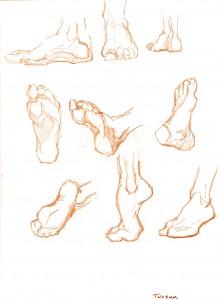 Foot gestures