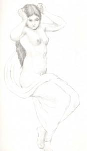 draped nude 2005