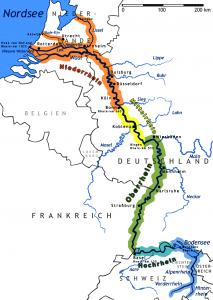 Rhein-Karte