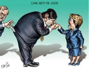 Alan y Bachelet besito