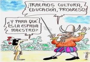 Colonizacion caricatura