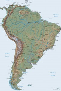 relief south america