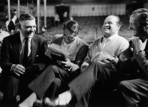 Actors (L-R) Clark Gable Cary Grant Bob Hope and David