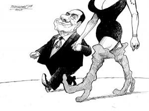 karikatur für tribüne-liebespaar