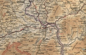 Builth 9 wells map