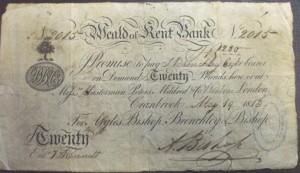 Hawkhurst, Kent 8  banknote