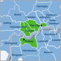 Putney 5 location map