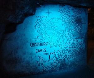 chislehurst caves blue