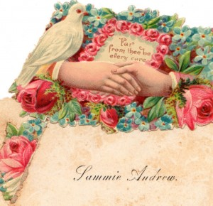 Sam Andrew, calling card 1860