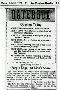 BBHC 2 Aug 1970