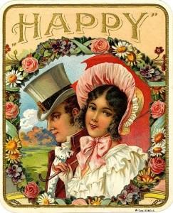 Happy-Vintage-Cigar-Box-Label