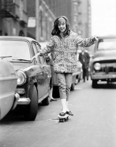 Skateboarding in NYC, 1960s