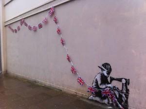 UK flags mural