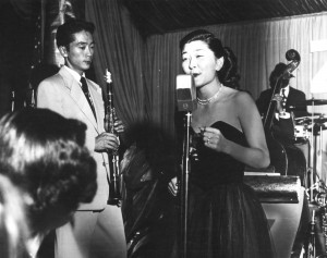 Chickie, 25, singing in Los Angeles after the war.