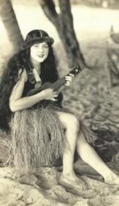 HawaiiHulaGirlBeautyUkelele1916