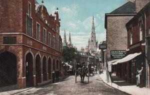 Staffordshire, Lichfield, Conduit Street and the Corn Exchange