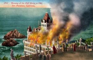 burning Cliff House