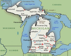mich map