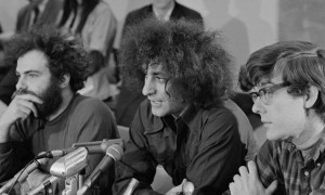 Jerry Rubin, Abbie Hoffman and Rennie Davis – three of the men held in Chicago, US, after 1968 anti-
