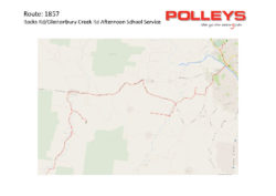 Route 1857 – Rocks Rd/Glastonbury Ck Rd Afternoon School Service