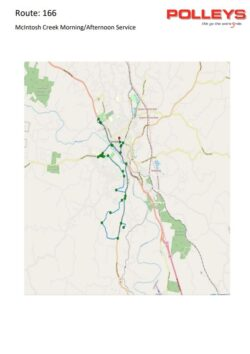 Route 166 – McIntosh Creek Afternoon School Service