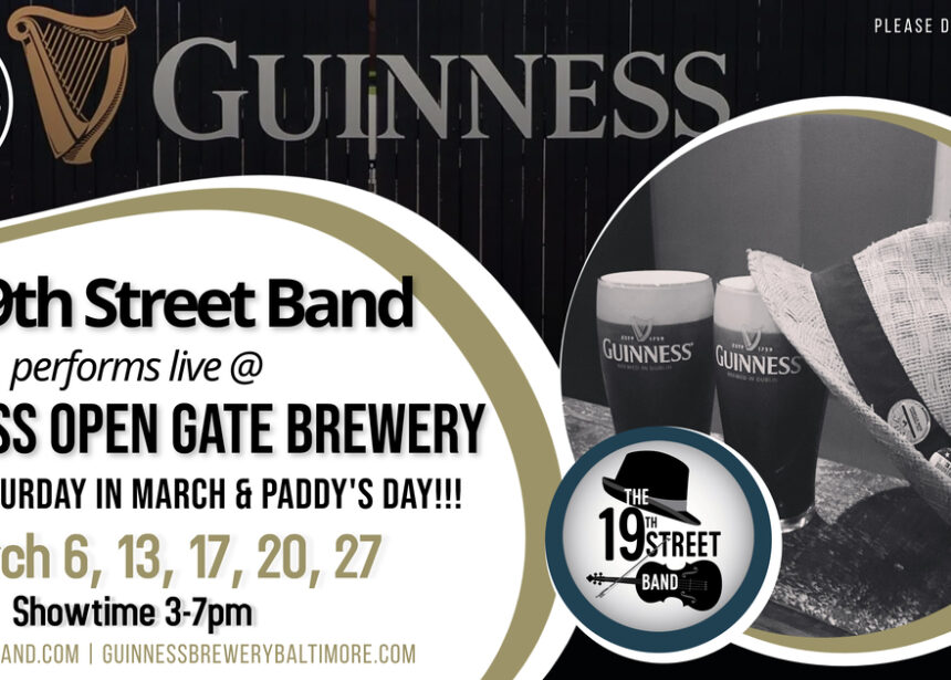 The 19th Street Band live at Guinness Open Gate Brewery