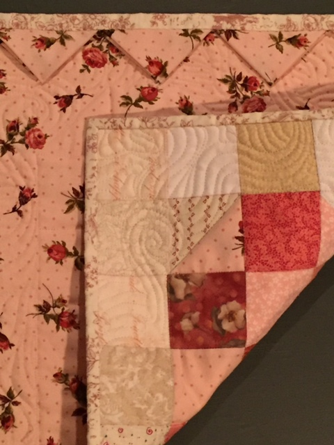 Image of back of miniature quilt.