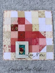 Image of Love Notes quilt and punch needle