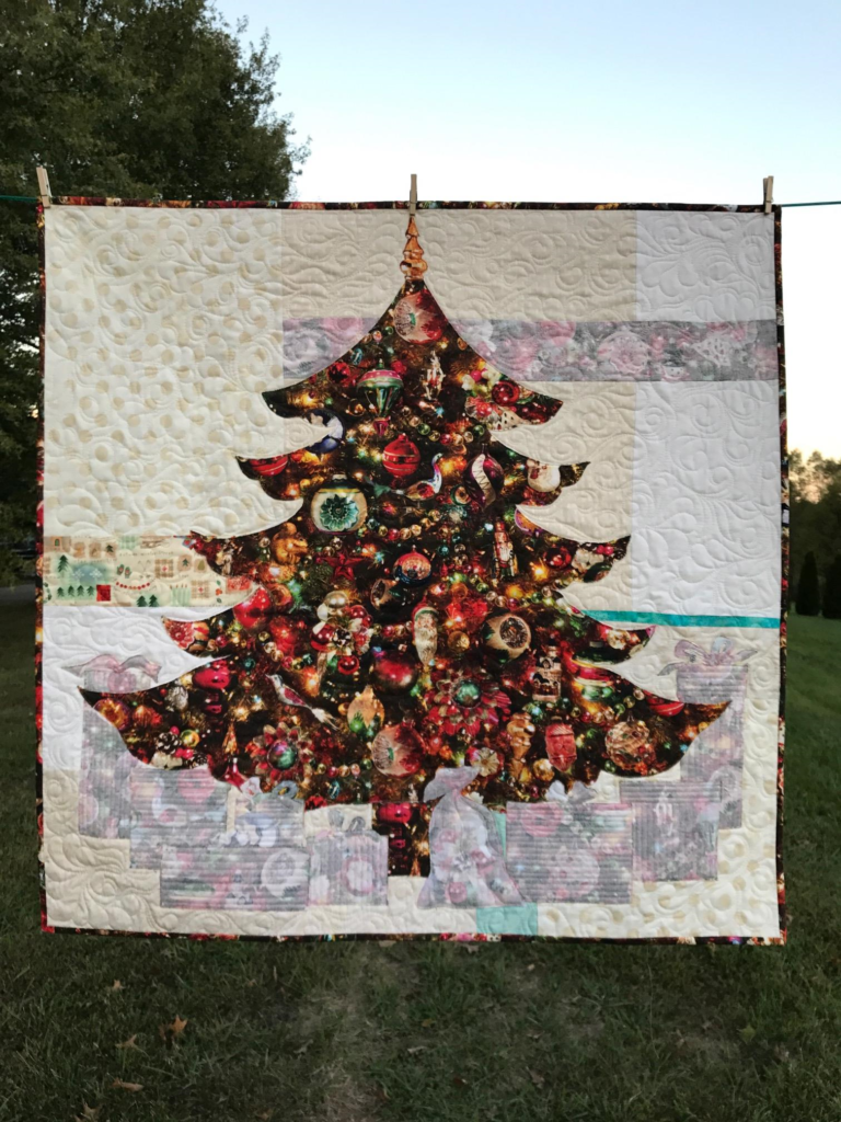 Image of Christmas Tradition JOY Quilt