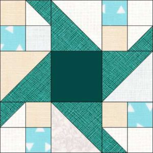Image of Paddle Wheel Quilt Block