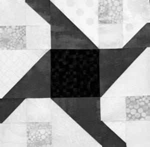 Image of Black and White Paddle Wheel Block