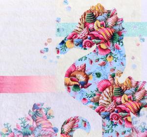 Image of Seahorse Quilt Closeup