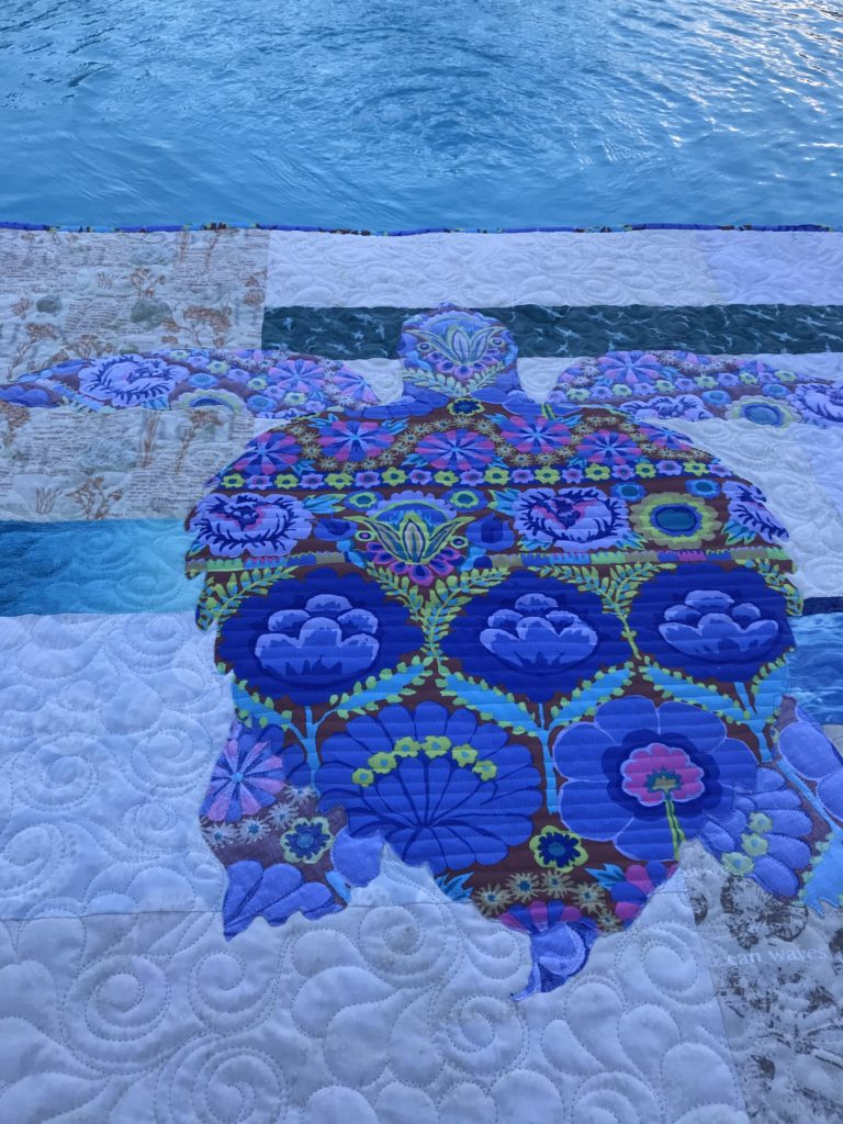 Image of Sea Turtle Quilt by Water