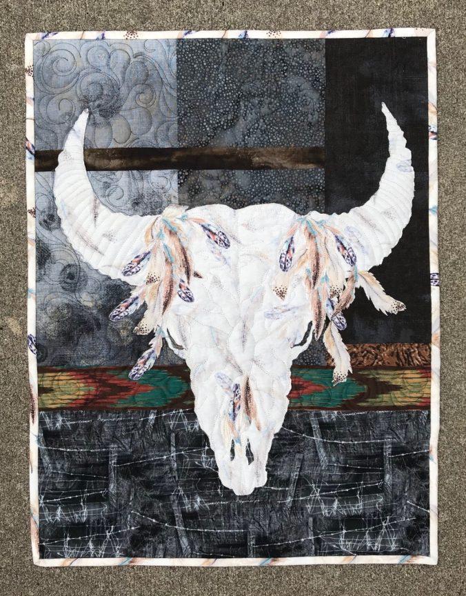 Image of Bison Skull Quilt