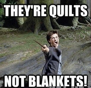 Image of Harry Potter Quilts Not Blankets Meme