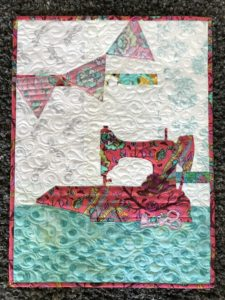Image of Pink Sewing Machine Quilt