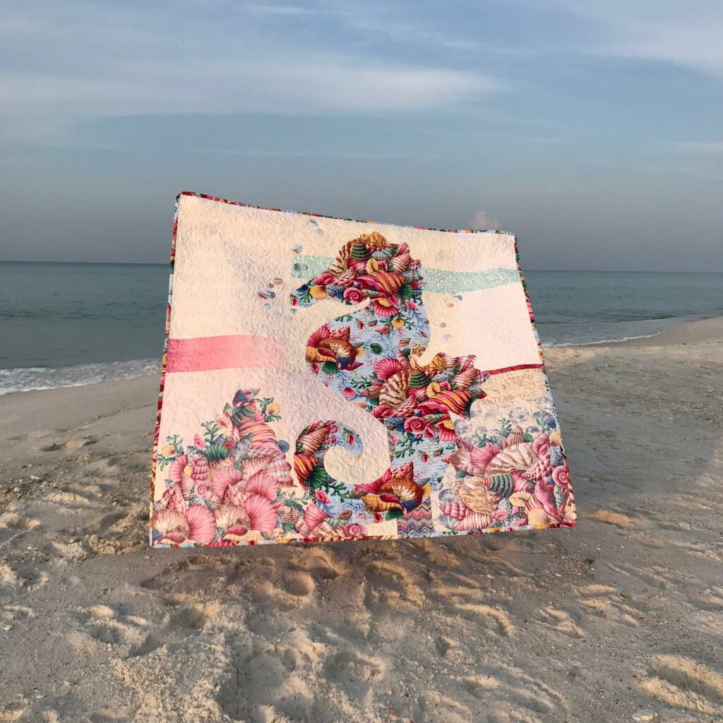 Image of Sally Quilt at Beach